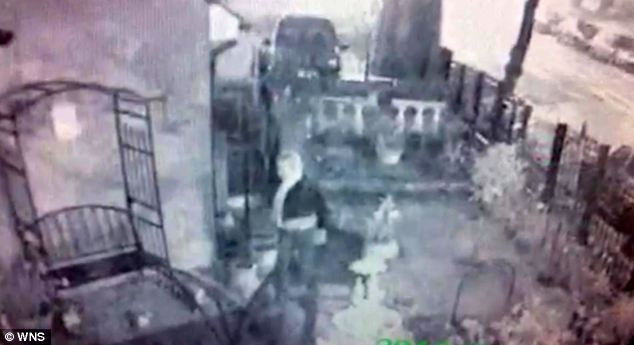 CCTV footage shows the woman enter the Brana's garden and take animal figurines. Mrs Brana said she had made some of the ornaments herself