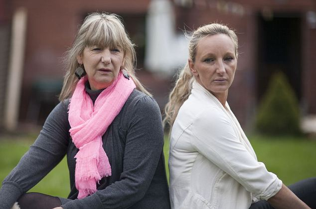 Christine pictured with her daughter Kerry Needham who has recently published a book about her son's disappearance