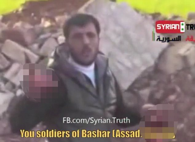 Earlier this year another sickening video showed a rebel leader eating the heart of a captured soldier