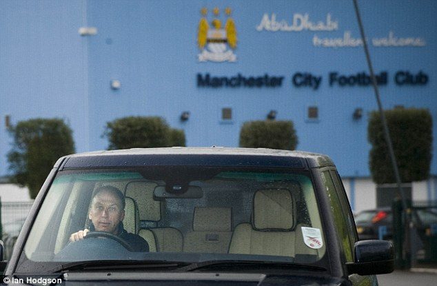 Driven out: David Platt departs Carrington for the final time