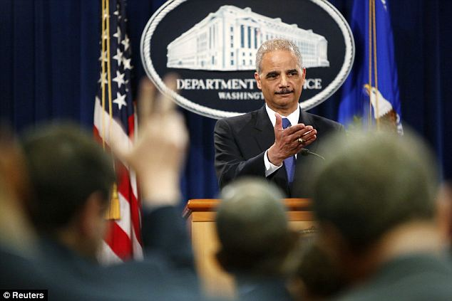Politicians versus press: Attorney General Eric Holder held a press conference on Tuesday to address the story that the Justice Department secretly obtained two months worth of journalists phone records