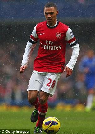Sole replacement: Kieran Gibbs starts for Arsenal