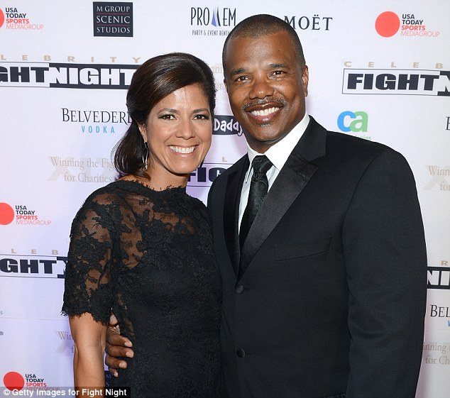 Fiance: Sambolin is engaged to White Sox General Manager Kenny Williams, pictured together in March