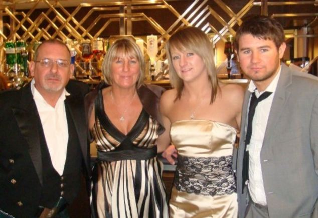 Stephen 'Hank' Hood with his wife Carol, 51, daughter Kirsty Hood, at 23 and son Leigh Hood