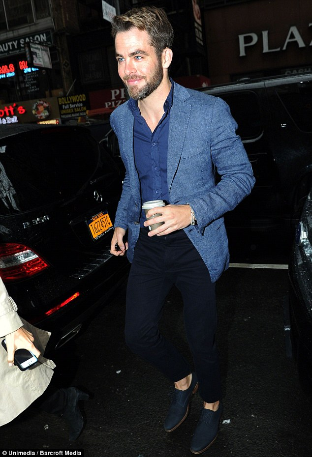 Far from home: Chris Pine, pictured in New York City on Thursday, has unveiled his stunning Los Feliz, California manse to Celebuzz