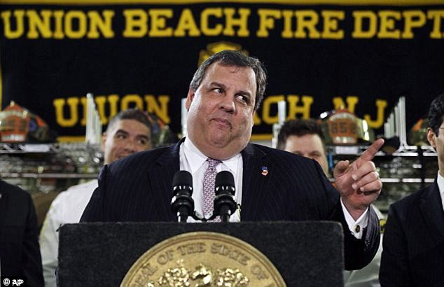 Cutting down: Christie had lap band surgery in February 2013 in an effort to curb his obesity but he did not disclose the procedure until May, saying he did it for his family and not for politics