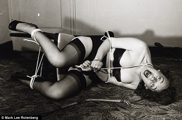 Darker themes: As art, images such as this from 1955 used imagery of the burlesque striptease routines as their starting point