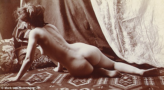 Glamor shots: The series of vintage photographs from Mark Rotenberg's archive of 200,000, including this one from 1870, have featured in Taschen Books, New York's Museum of Sex, and Hollywood's Erotic Museum