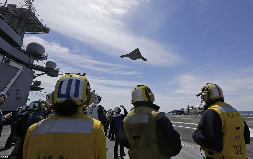 Advanced: The X-47B can reach an altitude of more than 40,000ft, has a range of more than 2,100 nautical miles and can reach high subsonic speeds, according to the U.S. Navy