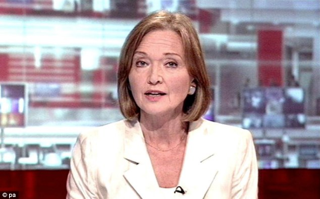 'Ageist BBC': Anna Ford, pictured presenting BBC1's One O'Clock News, left the corporation in 2006, claiming she was being sidelined due to her age