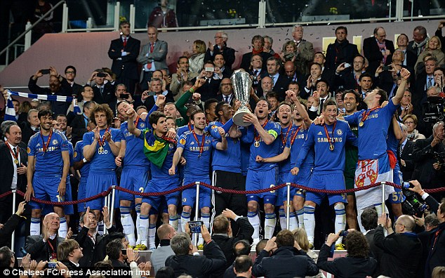 On the continent: Chelsea added the Europa League to their Champions League success last year