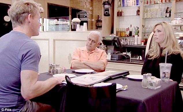 Under pressure: Chef Gordon Ramsay walked off his first ever episode of Kitchen Nightmares after being unable to get through to Samy and Amy Bouzaglo about the problems with their Scottsdale, Arizona bistro. However, they say THEY stopped filming.