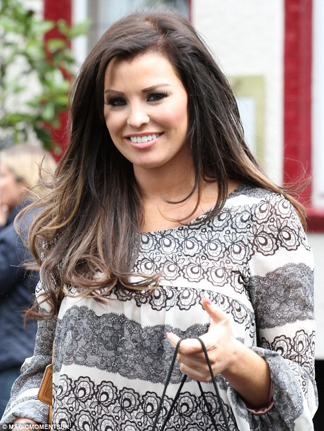 Something to smile about: Jessica Wright seemed to be in good spirits as she enjoyed her girlie day out