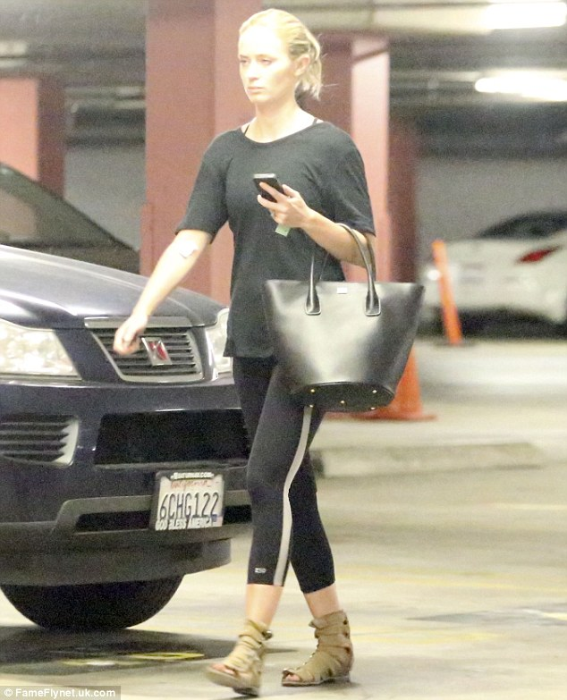 Effortlessly chic: Emily Blunt looked the picture of elegance as she emerged from her fitness class in Beverly Hills on Monday