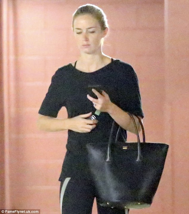 Cool and composed:hile most mere mortals would have been left looking red-faced and sweaty after a gruelling workout, the 30-year-old actress seemed to be the picture of calm