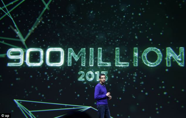 Sundar Pichai, senior vice president, Chrome and Apps at Google, reveals  900 million android devices have been activated in 2013
