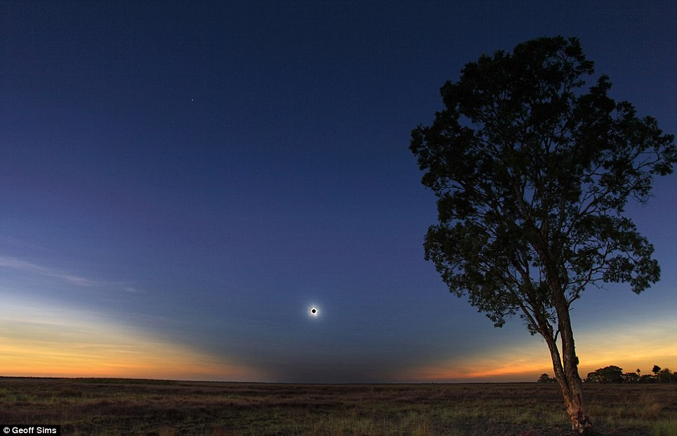 Expanse: This impressive image shows a solar eclipse over Queensland in Australia
