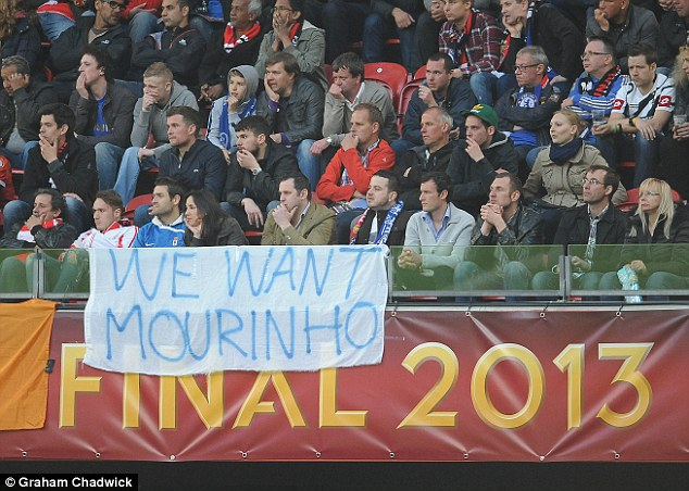 We want Mourinho: Chelsea fans make their feelings clear as to who they want as their next manager