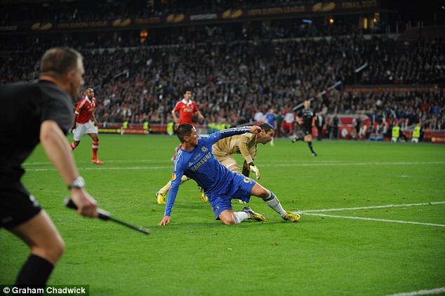 Breakthrough: Fernando Torres gave Chelsea the lead just before the hour mark in Amsterdam