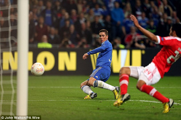 Well taken: Torres rounded the goalkeeper before sliding the ball into the net from a tight angle