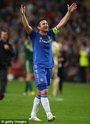 Super Frank: Chelsea legend Lampard celebrates