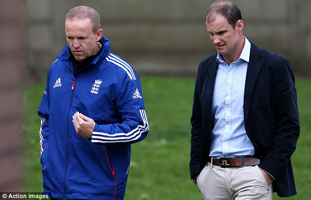 Inside knowledge: Andrew Strauss (right) will be analysing Andy Flower's England