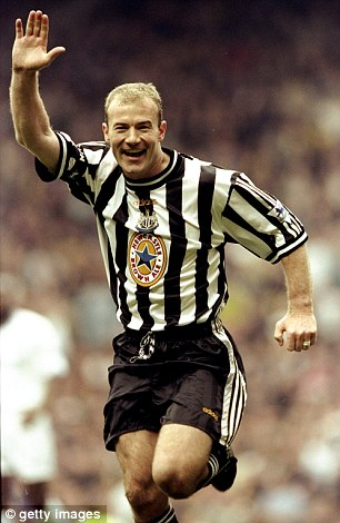 The best: Alan Shearer was the best player Harper has played with at newcastle