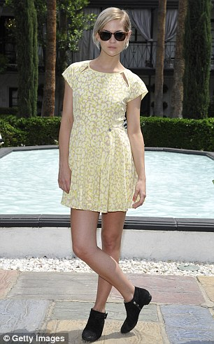 DJ Leigh Lezard attends the GUESS Hotel pool party at Viceroy Palm Springs