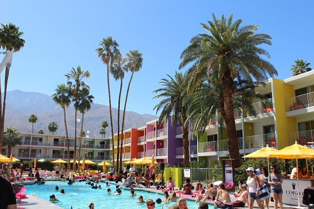 Henry Holland hosted a party to promote his sunglasses collection at the colorific Saguaro hotel