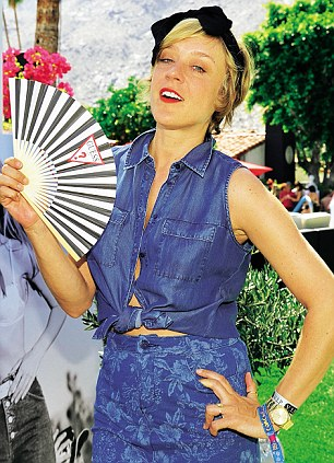 Chloe Sevigny attends the GUESS Hotel pool party at Viceroy Palm Springs