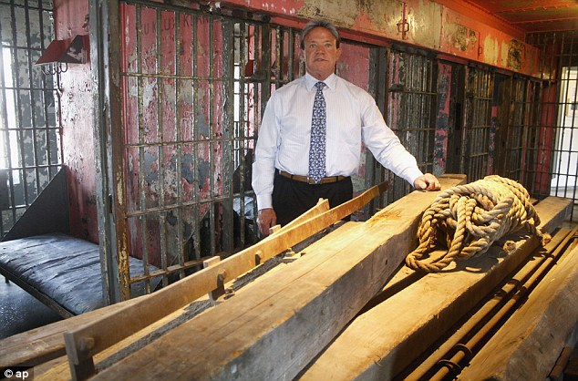 These are the wood and rebar pieces of the gallows that were used for the 1928 public hanging of Charlie Birger