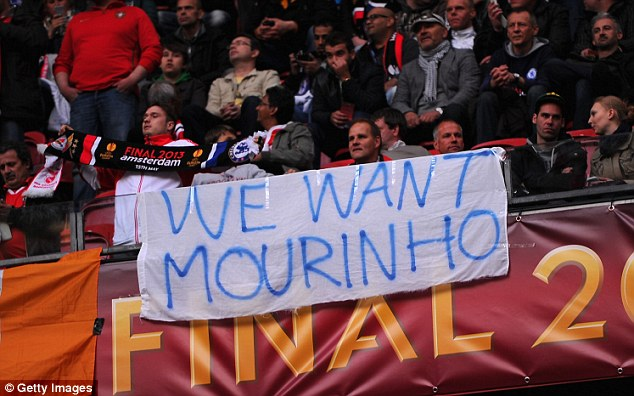 Fan favourite: Chelsea fans make their feelings clear as to who they want as their next manager