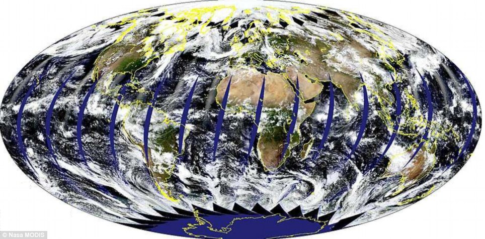 Nasa's MODIS satellites take images of the entire planet every two days.