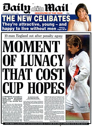 Headlines: This was the front page of the Daily Mail,  the following morning