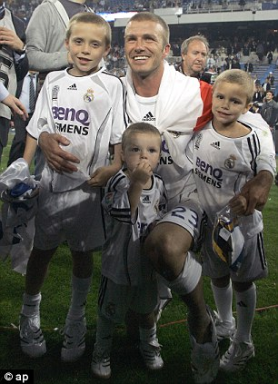 King of Spain: Beckham left Real Madrid as a champion in 2007