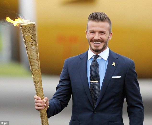 Ambassador: David Beckham played a key role in winning the Olympics for Britain and worked as an ambassador for Team GB