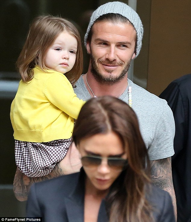 Family man: Beckham will now have more time to spend with his wife Victoria and his four children