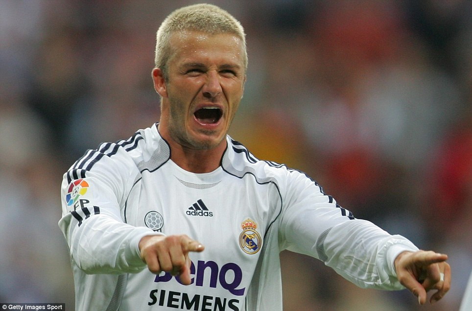 Back to blonde: And Beckham soon earned an England recall, after Steve McClaren had dropped him