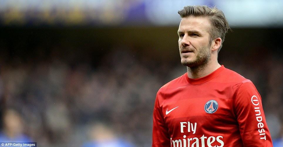 Nearing the end: But even if Beckham knew it, the rest of us didn't and there was talk of a new contract at PSG or an international recall