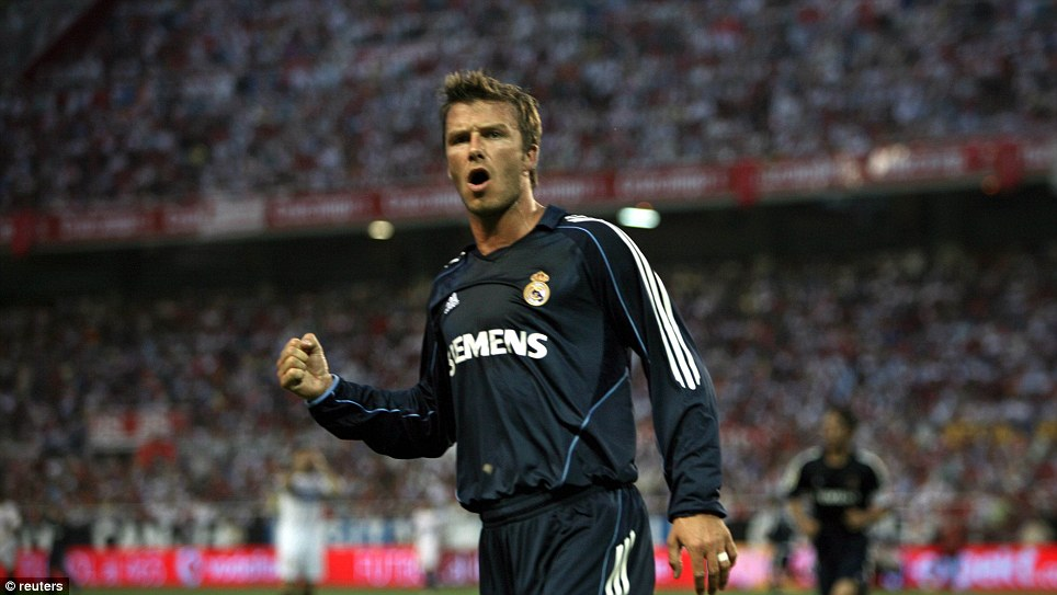 Dead-ball specialist: Beckham was renowned for his ability at set-pieces
