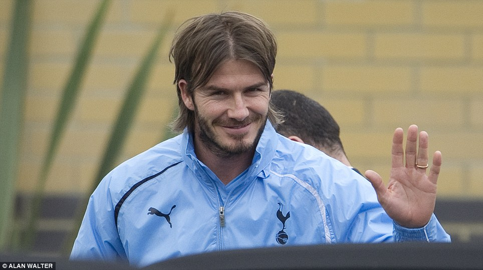 Latest move: Beckham also trained with Tottenham in January 2011, again to maintain his impressive fitness