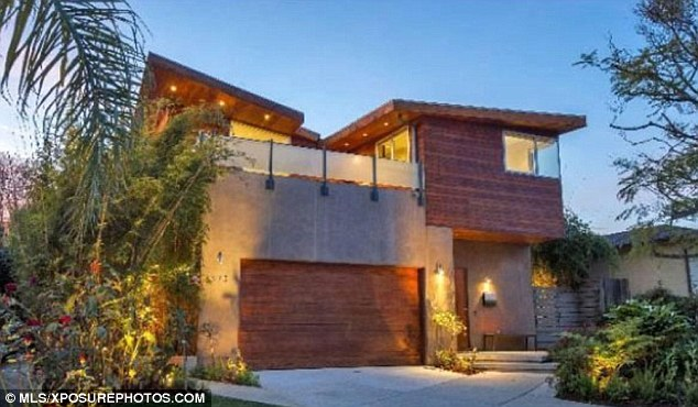 Rustic canyon: The 2,500-square-foot home is nestled over L.A.'s scenic Temescal Canyon