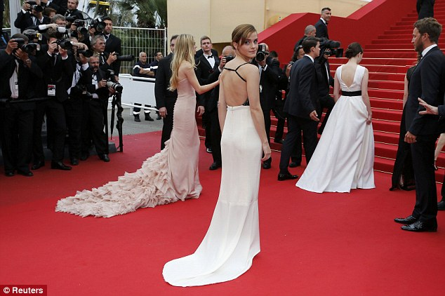 Ticking all the boxes: The Harry Potter star showed off her grown up glamour on the second day of the 66th annual Cannes Film Festival
