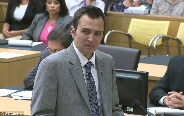 Emotional: Travis Alexander's younger brother Steven spoke to the jury on Thursday, appealing to them by telling how his life and his family's lives have been changed dramatically by the murder