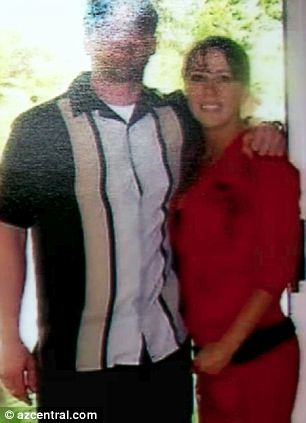 Memories: Samantha last saw Travis just a few weeks before he was killed, and she told how he convinced her to take this picture of the two of them even though she was wearing her pajamas (right)