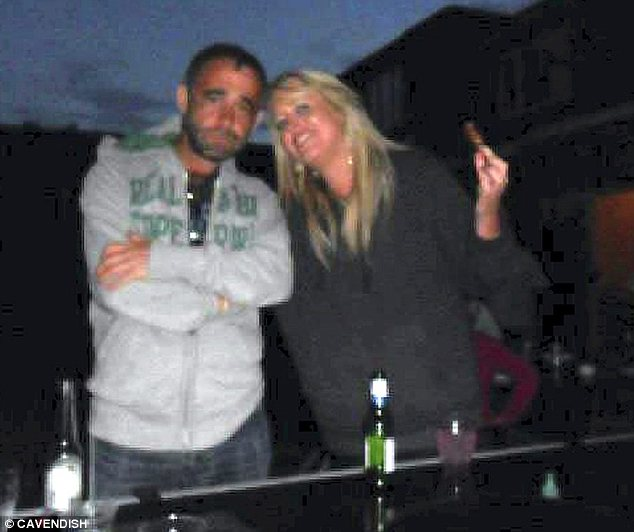 Fun: Le Vell pictured at a party with Ms Dodd, who is believed to be working in a school