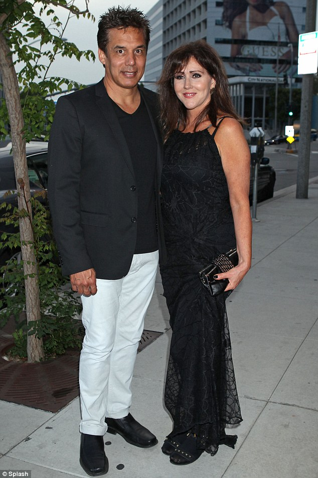 Family night out: Courtney's mother Krista Keller Stodden was also at the bash with a friend