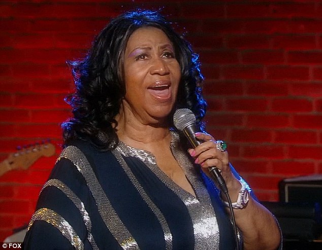 Queen of Soul: Aretha Franklin performed with the final five American Idol contestants on Thursday