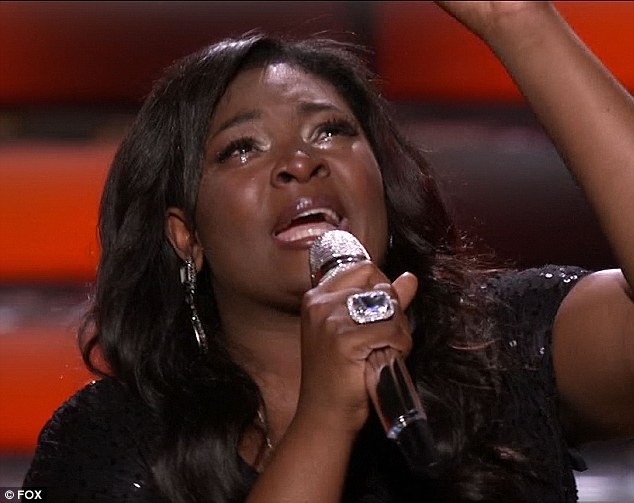 Teary performance: American Idol Season 12 winner Candice triumphed in the contest over Kree Harrison