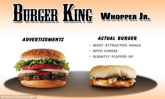 This is what the photographer, who documented his findings on his blog, was handed when he asked for Burger King's Whopper Jr burger